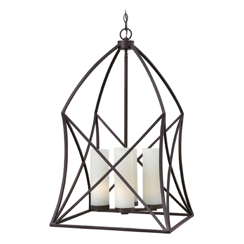 Hinkley Lighting Hinkley Lighting Ravenna Spanish Bronze Pendant Light with Cylindrical Shade 3314SB