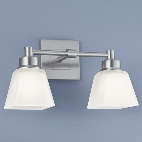 Norwell Lighting Norwell Lighting Matthew Brush Nickel Bathroom Light 9636-BN-SQ