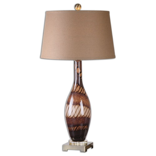 Uttermost Lighting Uttermost Domitia Brown Glass Table Lamp 26153