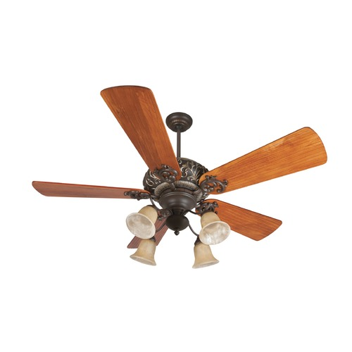 Craftmade Lighting Craftmade Lighting Ophelia Aged Bronze/vintage Madera Ceiling Fan with Light K11150