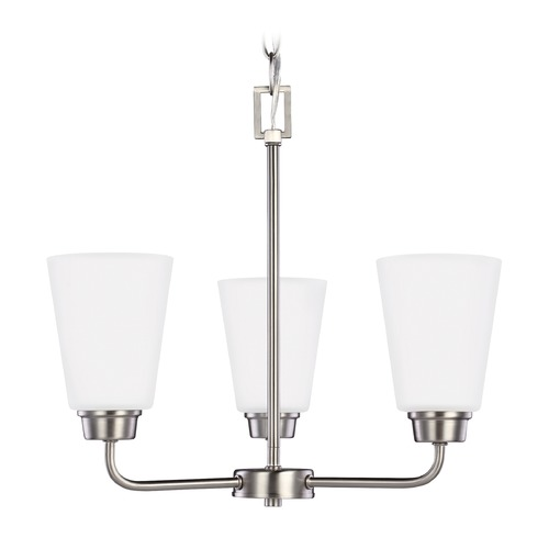 Sea Gull Lighting Sea Gull Kerrville Brushed Nickel Mini-Chandelier 3115203-962