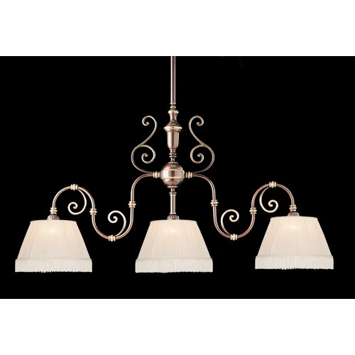 Crystorama Lighting Crystorama Lighting Hot Deal Roman Bronze Island Light with Empire Shade 1373-RB