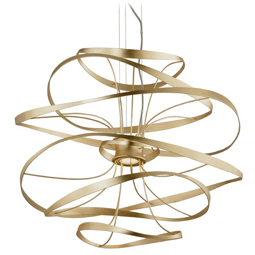 Corbett Lighting Corbett Lighting Calligraphy Gold Leaf LED Pendant Light 216-43