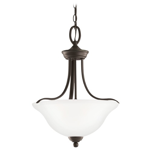 Sea Gull Lighting Wheaton - Three Light Pendant,White Tones SeaGull: 65626EN3-782 65626EN3-782