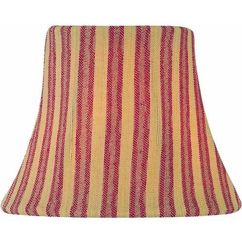 Lite Source Lighting Woven Stripe Red Bell Lamp Shade with Clip-On Assembly CH5193-6