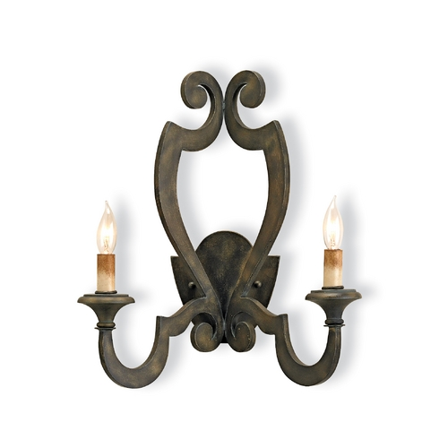 Currey and Company Lighting Plug-In Wall Lamp in Bronze Verdigris Finish 5012