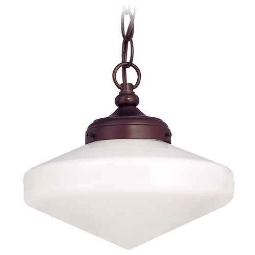 Design Classics Lighting 10-Inch Period Lighting Schoolhouse Mini-Pendant Light with Chain FA4-220 / GE10 / A-220