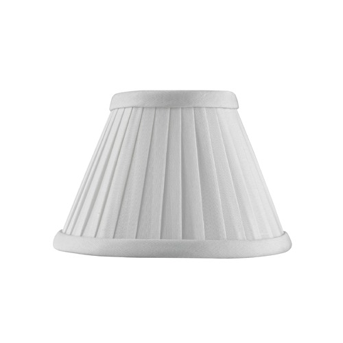 Design Classics Lighting Clip-On Empire Pleated White Lamp Shade SH9590