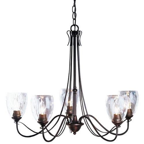 Hubbardton Forge Lighting Five-Light Chandelier 103063-03-L83