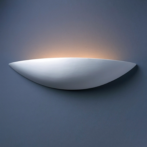 Justice Design Group Sconce Wall Light in Bisque Finish CER-4200-BIS