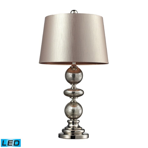 Dimond Lighting Dimond Lighting Antique Mercury Glass, Polished Nickel LED Table Lamp with Empire Shade D2227-LED