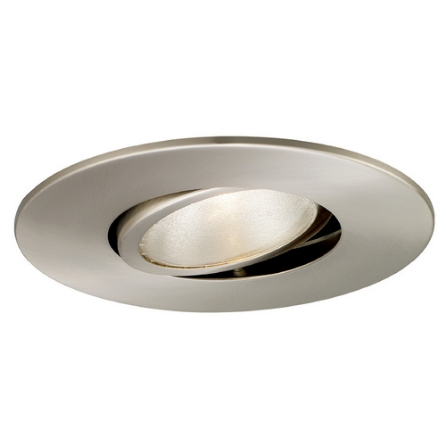 wac lighting 6 round eyeball gimbal ring brushed nickel. Black Bedroom Furniture Sets. Home Design Ideas