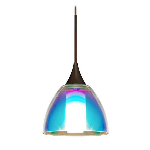 Besa Lighting Besa Lighting Divi Bronze Mini-Pendant Light with Bell Shade 1XT-1858SD-BR