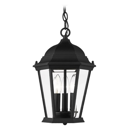 Livex Lighting Livex Lighting Hamilton Black Outdoor Hanging Light 7564-04