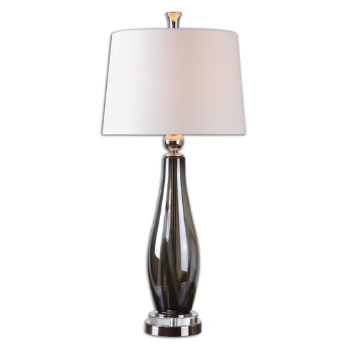 Uttermost Lighting Uttermost Belinus Gray Glass Table Lamp 26154