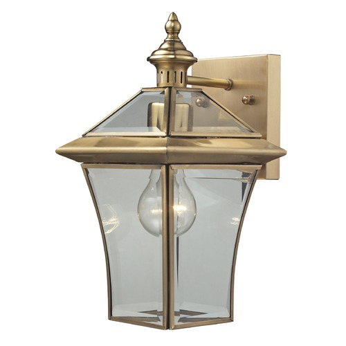 Elk Lighting Elk Lighting Riverdale Brushed Brass Outdoor Wall Light 22030/1