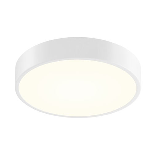 Sonneman Lighting Sonneman Pi Textured White LED Flushmount Light with Drum Shade 2746.98
