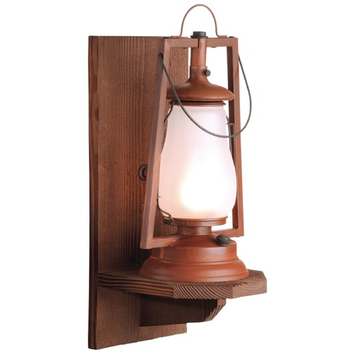 Sutters Mill Lantern Co Wood Wall Mount Rustic Outdoor Wall Lantern - Natural Rust Finish 752-S-8-NR-FR