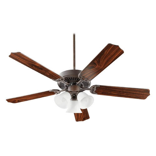 Quorum Lighting Quorum Lighting Capri Vi Oiled Bronze Ceiling Fan with Light 77525-1086