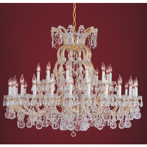 Crystorama Lighting Crystorama Lighting Hot Deal Gold Crystal Chandelier 4308-GD-CL-MWP