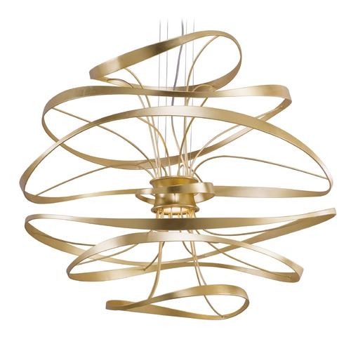 Corbett Lighting Corbett Lighting Calligraphy Gold Leaf LED Pendant Light 216-44