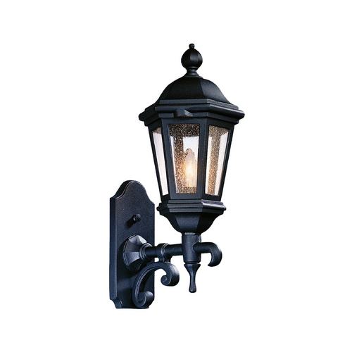 Troy Lighting Outdoor Wall Light with Clear Glass in Matte Black Finish BCD6830MB