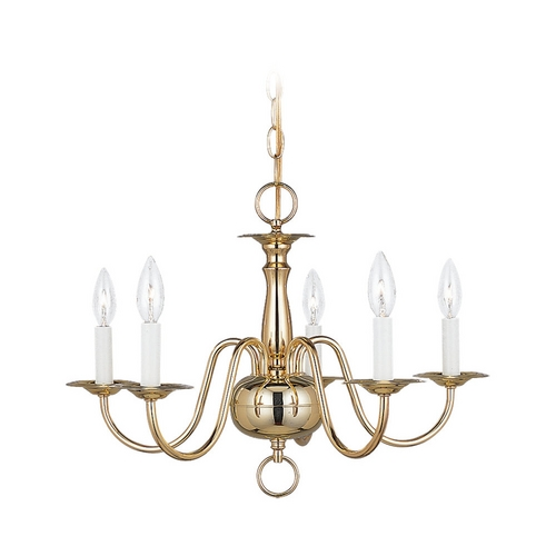 Sea Gull Lighting Mini-Chandelier in Polished Brass Finish 3313-02