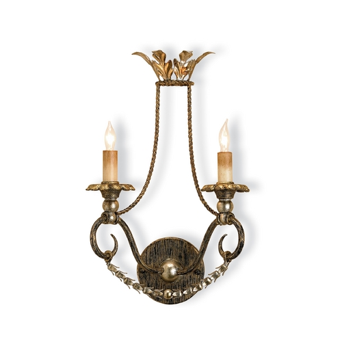 Currey and Company Lighting Plug-In Wall Lamp in Barcelona Gold Finish 5010
