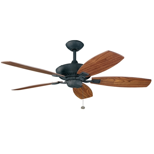 Kichler Lighting Kichler 52-Inch Pull-Chain Ceiling Fan with Five Blades 300117DBK