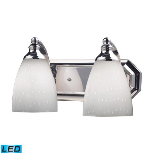 Elk Lighting Elk Lighting Bath and Spa Polished Chrome LED Bathroom Light 570-2C-WH-LED