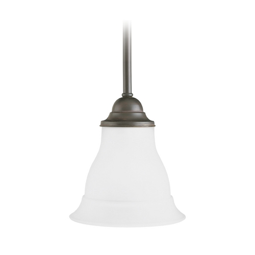 Progress Lighting Progress Mini-Pendant Light with White Glass P5096-20EBWB