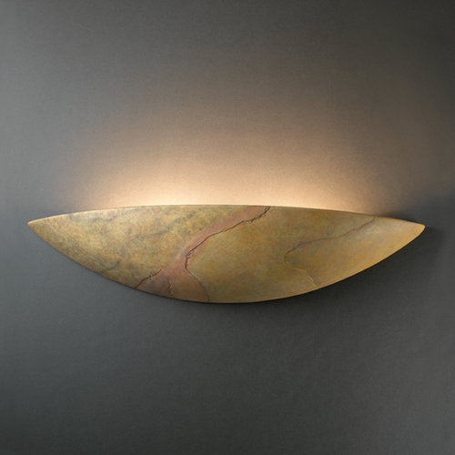 Justice Design Group Sconce Wall Light in Harvest Yellow Slate Finish CER-4200-SLHY