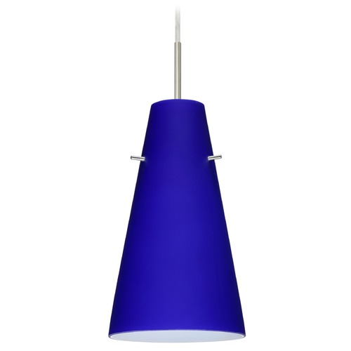 Besa Lighting Besa Lighting Cierro Satin Nickel LED Mini-Pendant Light with Conical Shade 1JT-4124CM-LED-SN