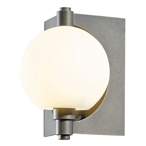 Hubbardton Forge Lighting Hubbardton Forge Lighting Pluto Dark Smoke Outdoor Wall Light 306605-07-G436
