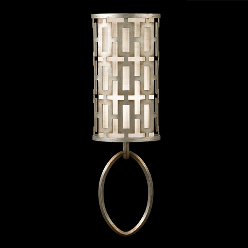 Fine Art Lamps Fine Art Lamps Allegretto Silver Platinized Silver Leaf with Subtle Brown Highlights Sconce 787450ST