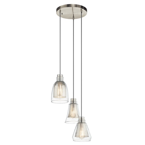 Kichler Lighting Kichler Lighting Evie Multi-Light Pendant with Bowl / Dome Shade 43627NI