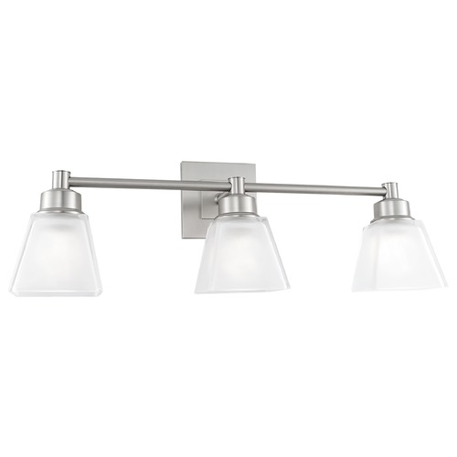 Norwell Lighting Norwell Lighting Matthew Brush Nickel Bathroom Light 9637-BN-SQ
