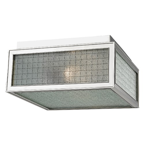 Hudson Valley Lighting Freemont 2 Light Flushmount Light Square Shade - Polished Nickel 5610-PN