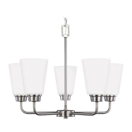 Sea Gull Lighting Sea Gull Lighting Kerrville 5-Light Mini Chandelier in Brushed Nickel 3115205-962