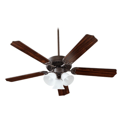 Quorum Lighting Quorum Lighting Capri Vi Oiled Bronze Ceiling Fan with Light 77525-1686