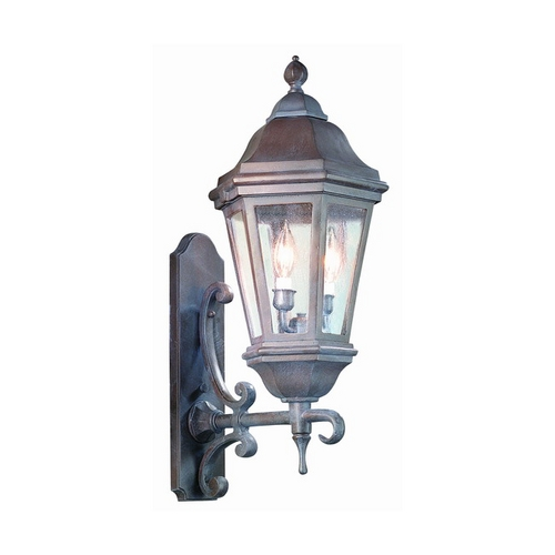 Troy Lighting Seeded Glass Outdoor Wall Light Black Troy Lighting BCD6831MB