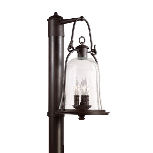 Troy Lighting Post Light with Clear Glass in Natural Bronze Finish P9465NB
