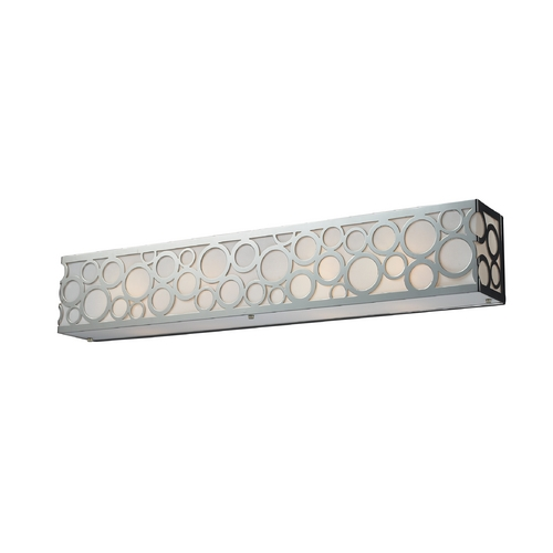 Elk Lighting Modern Bathroom Light with White Glass in Polished Nickel Finish 31023/4