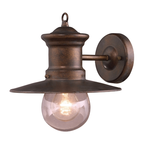 Elk Lighting Outdoor Wall Light with Clear Glass in Hazlenut Bronze Finish 42005/1