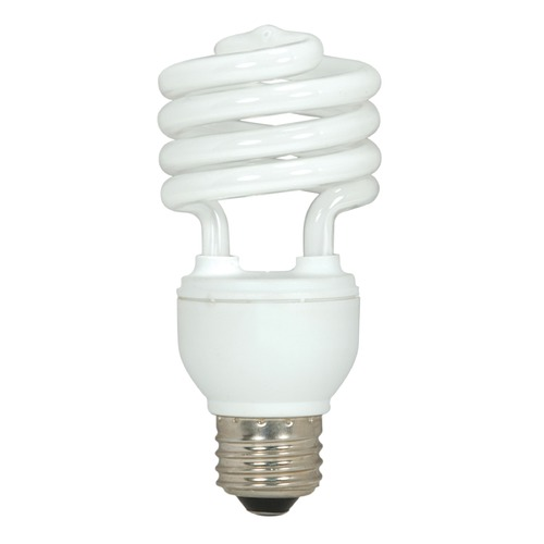 Satco Lighting 18-Watt Warm White Mini Compact Fluorescent Light Bulb S7224