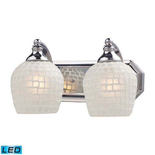 Elk Lighting Elk Lighting Bath and Spa Polished Chrome LED Bathroom Light 570-2C-WHT-LED