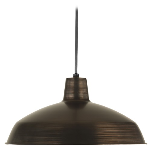Progress Lighting Progress Warehouse Industrial Pendant Light with Bronze Metal Shade P5094-74