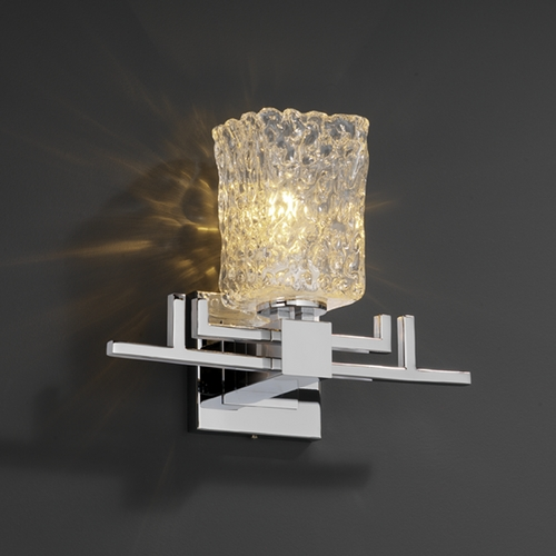 Justice Design Group Justice Design Group Veneto Luce Collection Sconce GLA-8701-26-CLRT-CROM