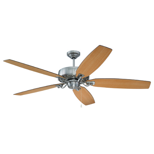Craftmade Lighting Craftmade Lighting Patterson Brushed Polished Nickel Ceiling Fan Without Light PAT64BNK5
