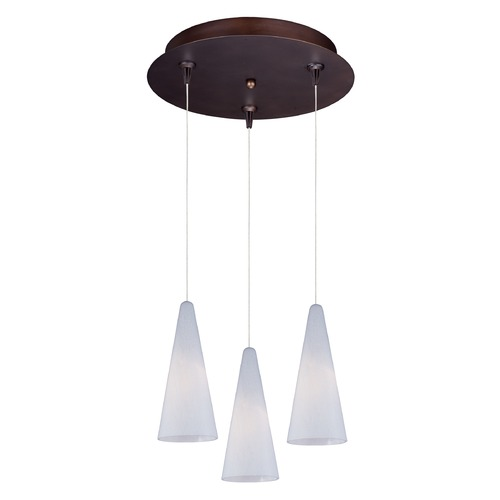 ET2 Lighting Minx Bronze Multi-Light Pendant with Conical Shade E94628-101BZ